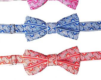 MEN- Hmong paj ntaub bow tie