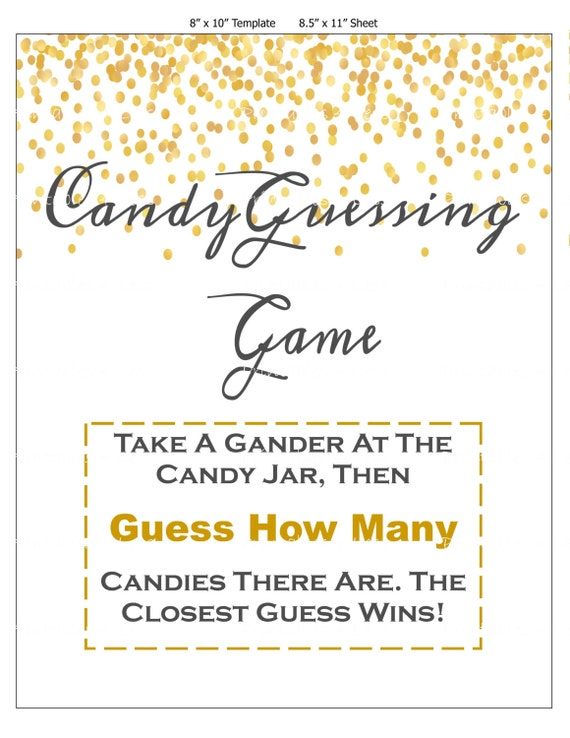 confetti candy guessing game jelly bean game printable candy. Black Bedroom Furniture Sets. Home Design Ideas