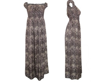 Rayon Printed Summer Maxi Dress Plus Paisley print