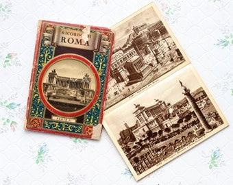 Rome Postcard Size Photos Booklet - Ricordo Di Roma - Charming Antique Paper Ephemera
