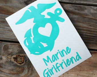 Marine Girlfriend , Mom, Wife, etc EGA USMC Decal