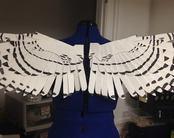 Realistic Snowy Owl Cosplay Wings