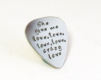 Custom Guitar Pick, Plectrum, Personalized, Wedding, Anniversary, Music Gift, Gift for Him, Music Gift