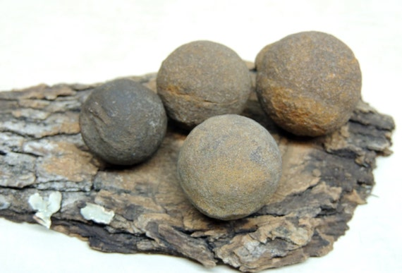 4 Ironstone Concretions Naturally Formed Balls By