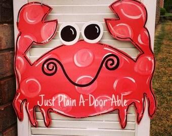 Crab/Summer Door Hanger, Bright Door Hanger, Beach Door Hanger