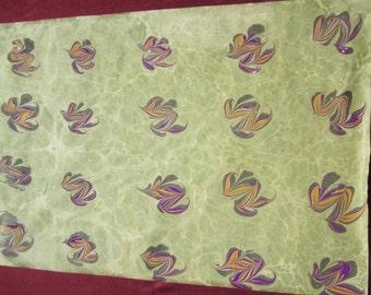 """Original """"Hatip"""" Ebru- Original marbled Paper"""