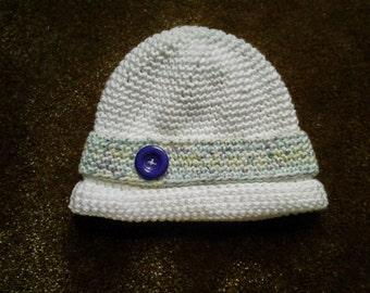 Crochet Baby Bowler Cap