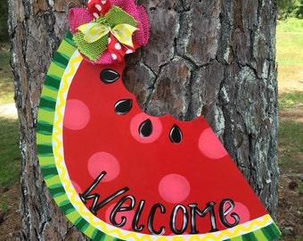 Summer Door Hanger,Watermelon Door Hanger,Summer Door Decorations,summer  Door Decor,