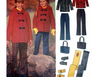 Simplicity Sewing Pattern 5863 Child's Pants, Jacket, Scarf, Mittens, Bag Used
