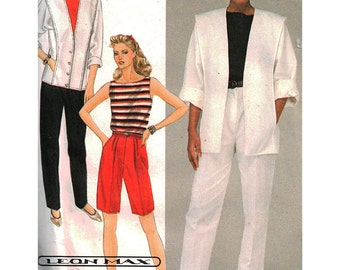 McCall's Sewing Pattern 8567 Misses Jacket, Top, Pants, Shorts Size:  16  Uncut