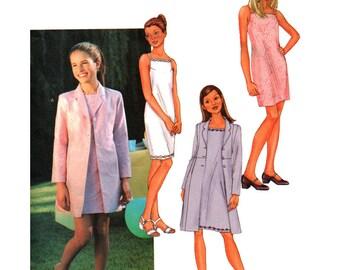 Butterick Sewing Pattern 3415 Girls' Jacket, Dress  Size:  7-8-10  Used