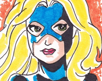 """Stargirl ACEO trading card2 1/2"""" x 3 1/2"""""""