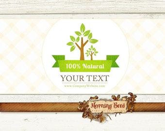 Soap label template Printable Eco 100% Natural labels - Customizable label Soap And Candle packaging
