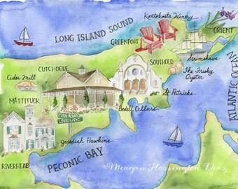Custom Wedding Map - Watercolor Map of Venue - Watercolor Wedding Map - Original Wedding Map