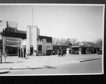 Photo/Litho Hi-Speed Gas Station-1920'S/1930'S (LARGE FORMAT)