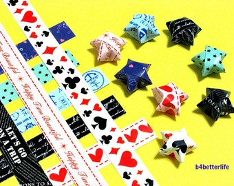 250 strips of DIY Origami Lucky Stars Paper Folding Kit. 26cm x 1.2cm. #C156. (XT Paper Series).