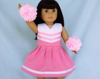 Pink and White Cheerleader/Cheer Dress for American Girl/18 Inch Doll