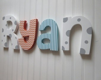 Nursery wall decor, Nursery letters, nursery letters, baby boy nursery letters, nursery decor, nursery wall letters