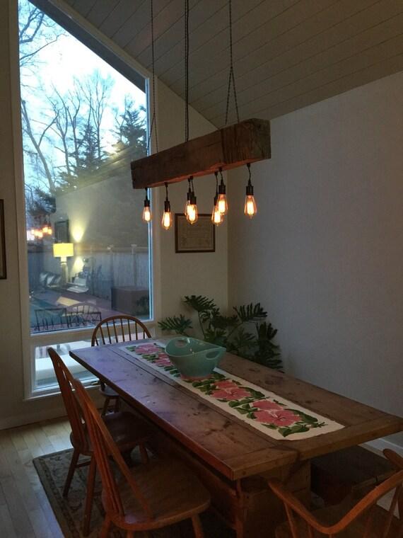 Custom Reclaimed Barn Beam Light Fixtures Bar Restaurant