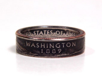 Size 8 3/4 Washington State Quarter Coin Ring