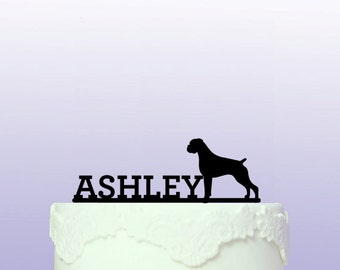Boxer Dog Personalised Cake Topper