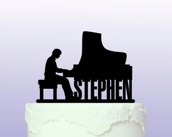 Personalised Pianist Cake Topper