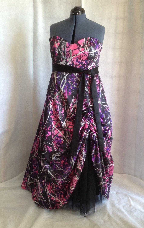 Muddy Girl Camo Floor Length Dress