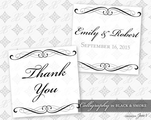 DIY Printable Wedding Favor Tag Template Printable Favor Tag
