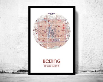 BEIJING - city poster - city map poster print