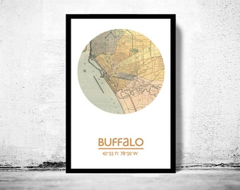 BUFFALO - city poster - city map poster print
