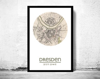 DRESDEN - city poster - city map poster print