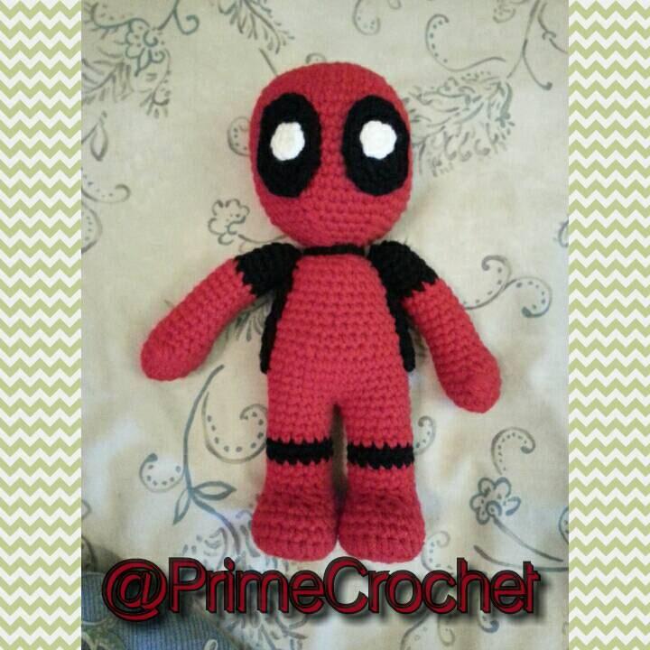 Crochet Wedding Dress Pattern Doll : Deadpool Inspired Amigurumi Crochet Doll. Made To by ...