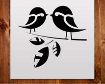 Articoli unici per uccello parete stencil etsy - Stencil per parete ...