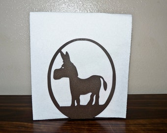 Donkey Napkin Holder - Metal Art - Home Decor -Mail Holder - Metal Donkey Napkin Holder - Brown Donkey _ Make GREAT gifts!