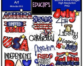 Patriotic Word Art