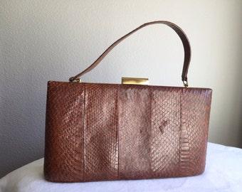 1960's Snakeskin Handbag