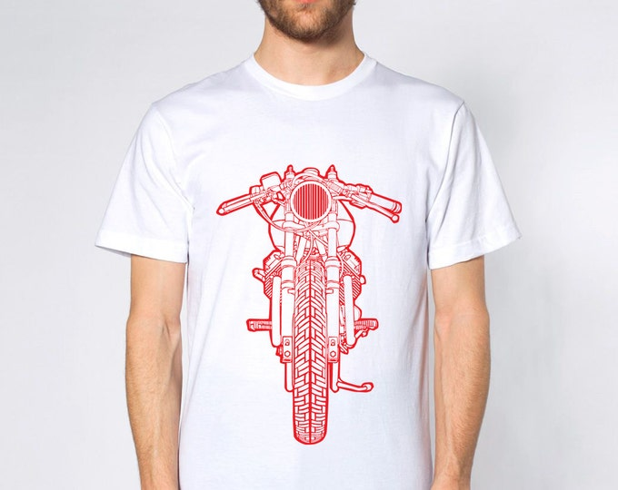 KillerBeeMoto: Limited Release Vintage Italian Engineered Cafe Racer V-Twin Motorcycle Short And Long Sleeve Motorcycle Shirt