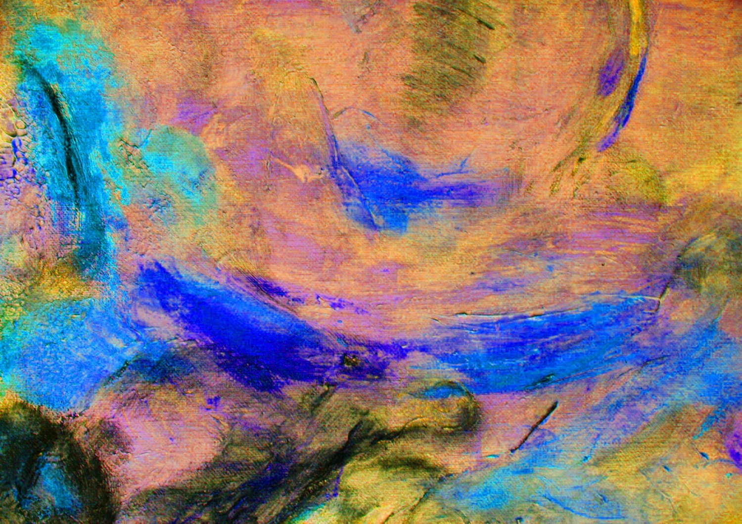 Wall Decor Art Abstract Painting Abstract Sky 7_ by ...