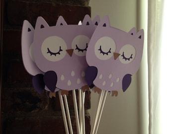 Owl Centerpieces Set of 9/ Owl baby shower decor/ owl birthday