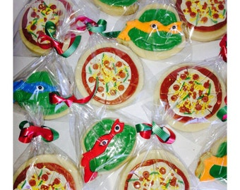 NinjaTurtles Inspired and Pizza Cookies Mixed 37 pcs.