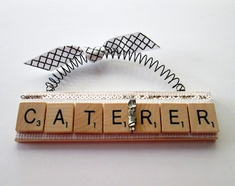 Caterer Scrabble Tile Ornament