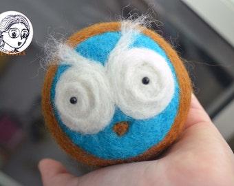 Owl Needle felt Handmade