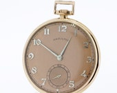 14K Rose Gold Filled Hamilton Pocket Watch