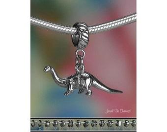 Sterling Silver Brontosaurus Charm or European Style Charm Bracelet