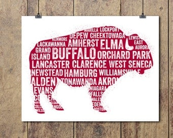 Buffalo Towns — We Are One, Art Print