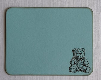 Teddy Bear Baby Thank You Card / Stationery / Flat Note Cards - Set of 10
