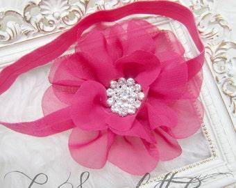 Chiffon Flower Baby Girl,Girl Headband