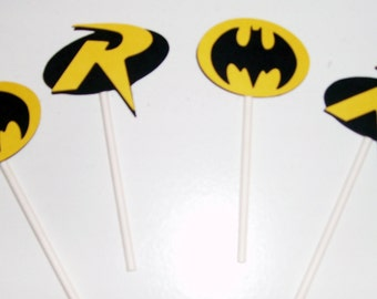 Batman and Robin Cupcake toppers (245C)