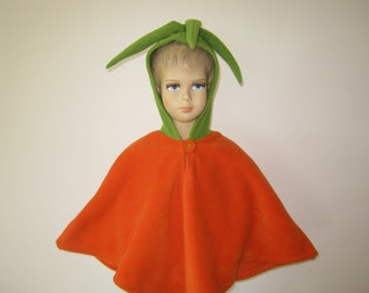 carrot halloween carnival costume cape for toddlers