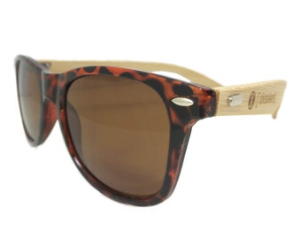 Natural Wood Bamboo - Sunglasses - Tortoise + XCELLENT CLOTHING +